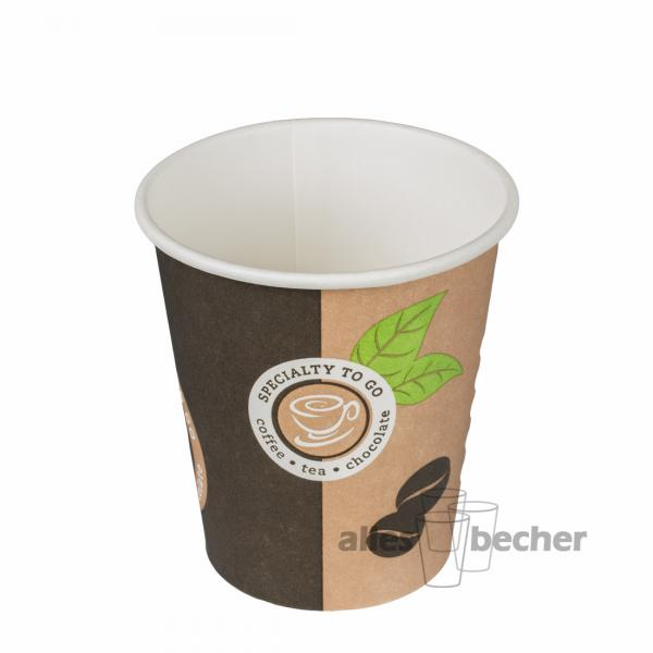 Pappbecher Cafe D1 200ml/8oz