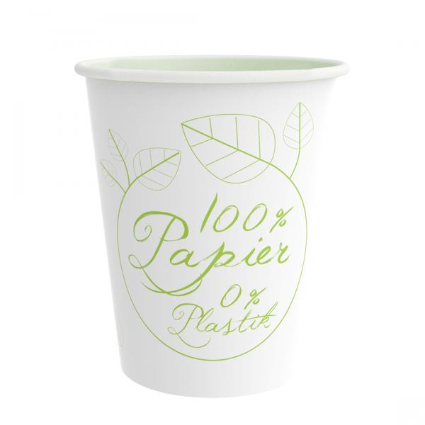 PurePaper Becher 300ml/12oz 100% plastikfrei