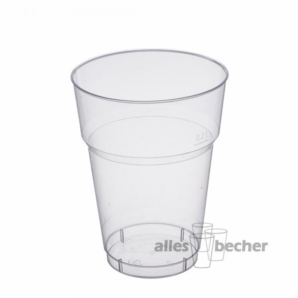Trinkglas Multicup PS glasklar 200ml