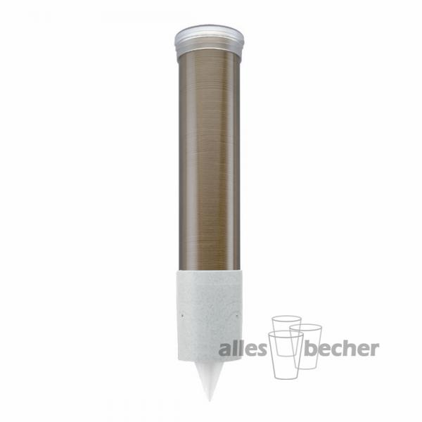 Becherspender transparent-bronze slim 90-200ml