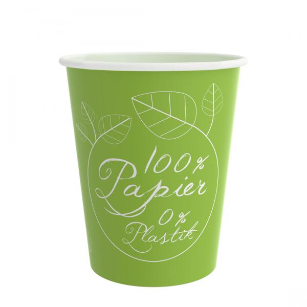 PurePaper Becher 200ml/8oz 100% Papier