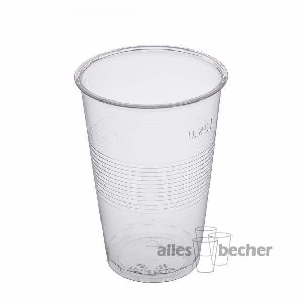 PS Wasserbecher klar 250ml