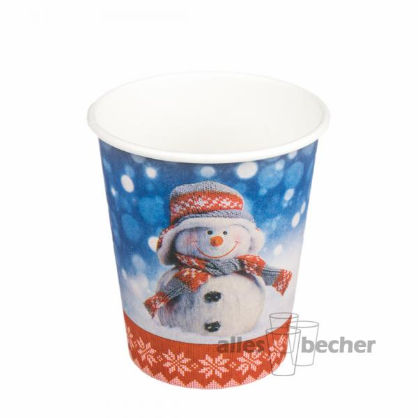 Hartpapierbecher Snowman 200ml