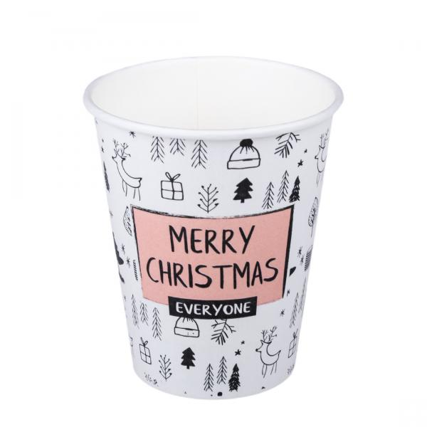 Pappbecher Merry Christmas 250ml/300ml